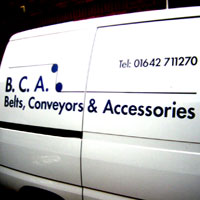 van livery including contact details